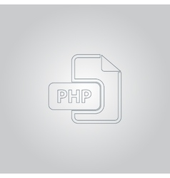 PHP computer file extension symbol vector