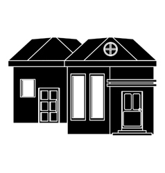 Pictograh family house exterior concept vector