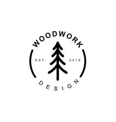 pine tree logo vector image