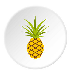 pineapple icon circle vector image