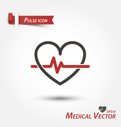 Pulse icon medical vector