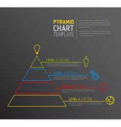 Pyramid chart diagram template vector
