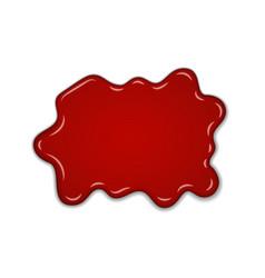 Red cherry splash confiture berry sweet jam spot vector