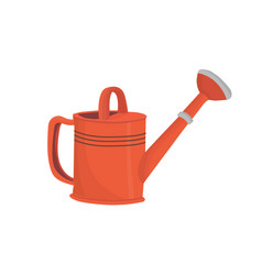 red garden watering can vector image
