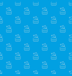Robot crane pattern seamless blue vector