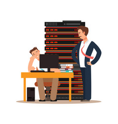 server administrator workplace vector image