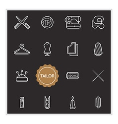 Set of Tailor Elements can be used as Logo or Icon vector image