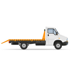 Small wrecker truck van lorry for transportation vector