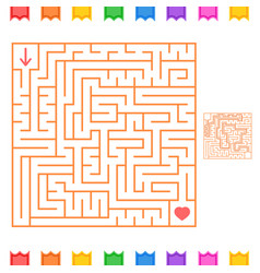 square color labyrinth an interesting game for vector image