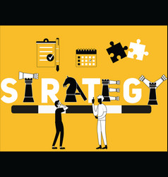 strategy word concept and people doing things vector image