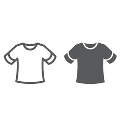 T-shirt line and glyph icon clothing and fashion vector
