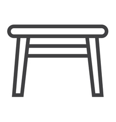 table line icon furniture and interior element vector image