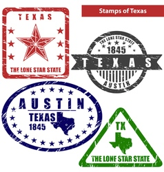 Texas in stamps vector