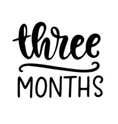three months bashower newborn age marker vector image