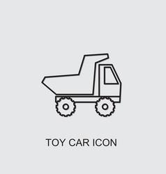 Toy car icon vector