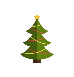 Traditional christmas tree on vector