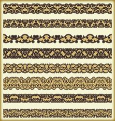 Vintage border set for design 14 vector image