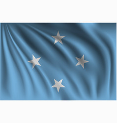Waving federated states micronesia vector