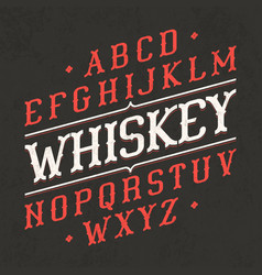 whiskey style vintage font ideal for any design vector image