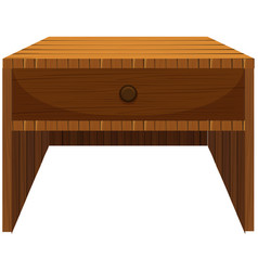 Wooden drawer in classic design vector