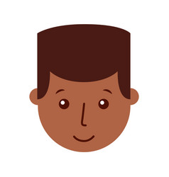 Young man black head character vector
