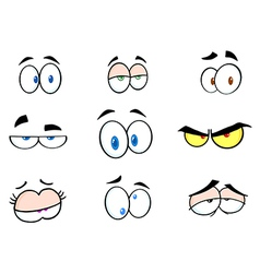 Cartoon Funny Eyes Collection vector image