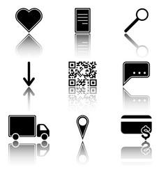 Image of icons of hot menu keys - favorites vector
