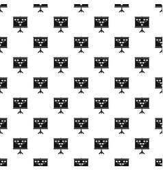 Soccer or football field scheme pattern vector
