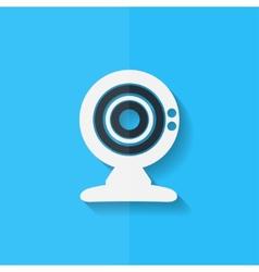 Web camera icon Flat design vector image