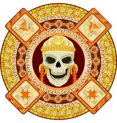 Aztec god of death vector