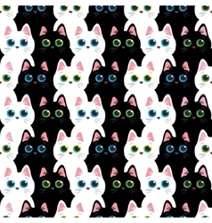 Cats seamless abstract pattern vector image