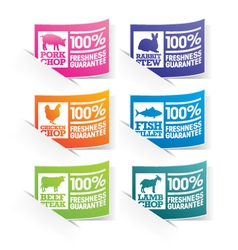 Food Stickers vector image