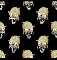 heads of zombies vector image vector image