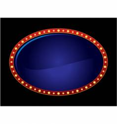 oval neon vector image vector image