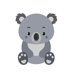 adorable koala in flat style isolated on white vector image
