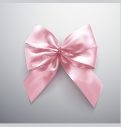 pink bow and ribbons vector image vector image