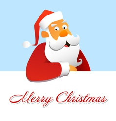 Santa Claus above a white background vector image