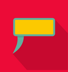 speech bubble icon flat style vector image vector image