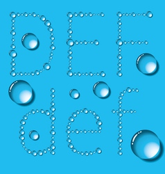 Water Drop Letters On Blue New 02 vector image vector image