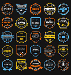 Badges collection vector image