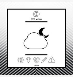 Cloud moon symbol - ico vector