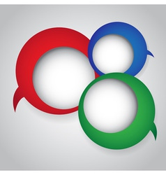 Colorful speech bubbles round vector image vector image