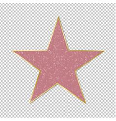 Fame star on transparent background vector