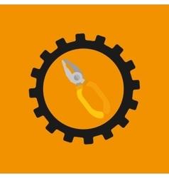 Gear construction tool repair icon vector