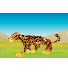 leopard stalking vector image vector image