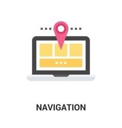 navigation icon concept vector image vector image
