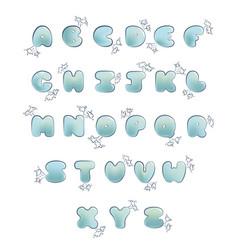 plump handwritten bubble alphabet set vector image vector image