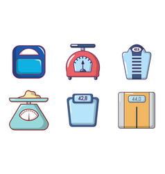 scales icon set cartoon style vector image