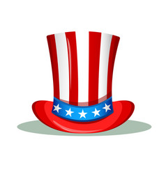 uncle sam hat for the 4th of july usa vector image vector image