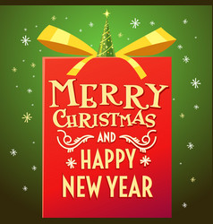 2017 merry christmas and happy new year vector